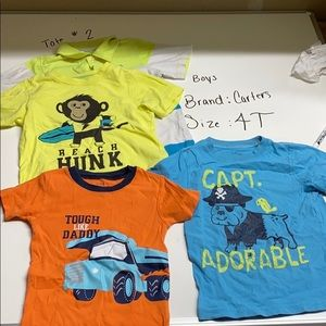 Boys 4t t shirt lot bundle